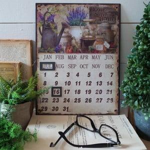 Metalowy kalendarz stołowy Home Sweet Home