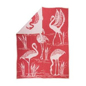 Żakardowy koc Flamingo