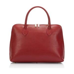 Červená kožená kabelka Massimo Castelli Liana