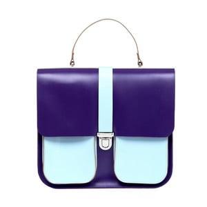 Skórzana torebka Onslow Purple/Blue XL