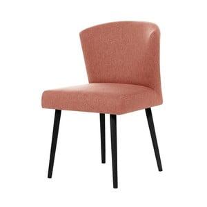 Brzoskwiniowe krzesło z czarnymi nogami My Pop Design Richter