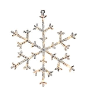 Dekoracja świecąca LED Best Season Icy Snowflake, 30 cm