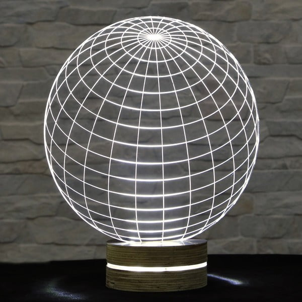 Lampa 3D stołowa Globe