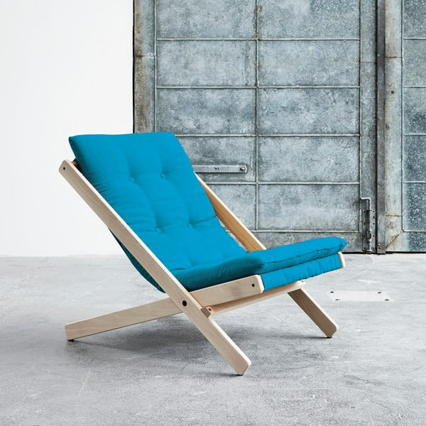 Fotel składany Karup Boogie Raw/Horizon Blue
