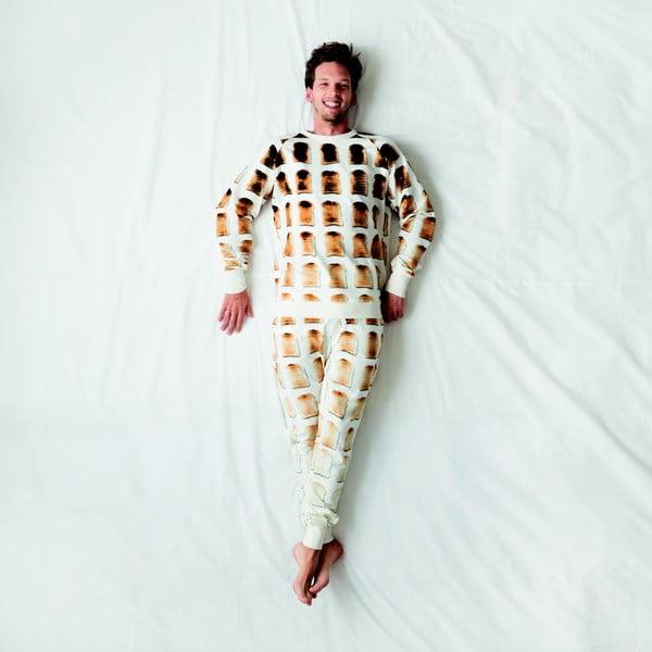 Białe spodnie męskie Snurk Toast, S