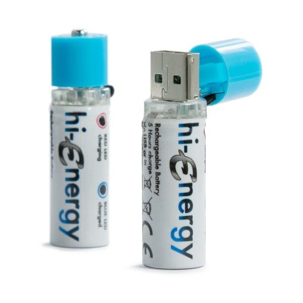 Baterie Hi-Energy do wielokrotnego ładowania na USB, 2 szt.