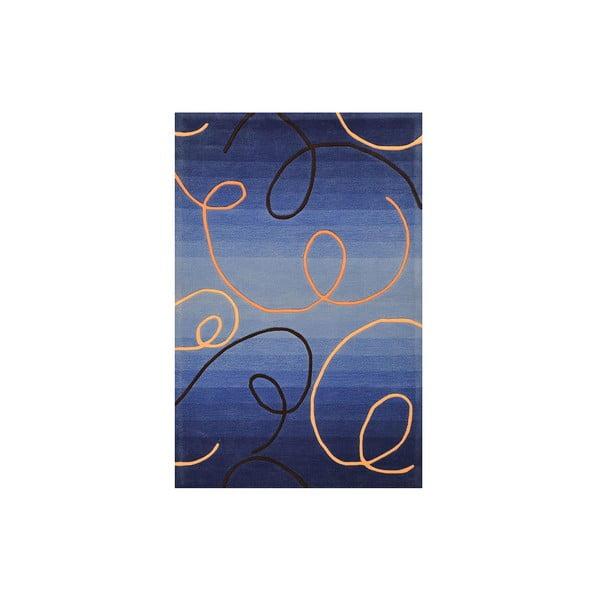 Dywan ręcznie tkany Pluto, 200x300 cm, niebieski