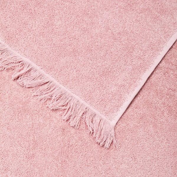 Komplet 4 różowych ręczników bawełnianych Casa Di Bassi Bath, 50x90 cm