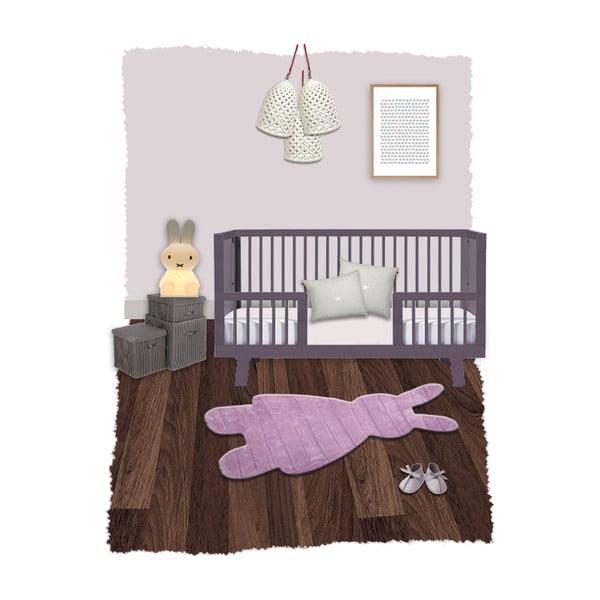Dywan dziecięcy Bunns Pink, 85x140 cm
