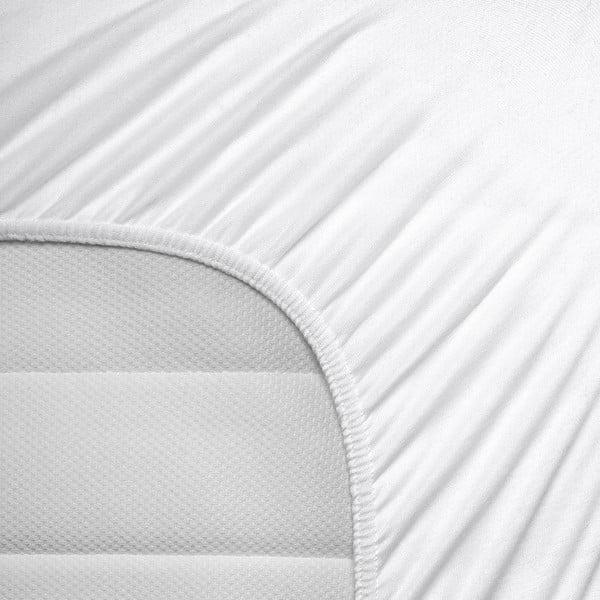 Białe prześcieradło elastyczne Homecare, 80-100x200 cm