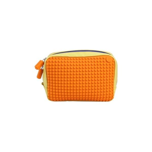 Pikselowa saszetka, żółta/pomarańczowa