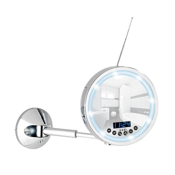 Kosmetyczne lusterko ścienne z oświetleniem LED i radiem Wenko Imperial