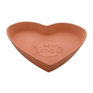 Terakotowa miska Heart, 28 cm