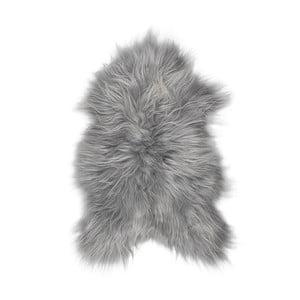 Szara skóra owcza z długim włosiem Darja, 100x55cm