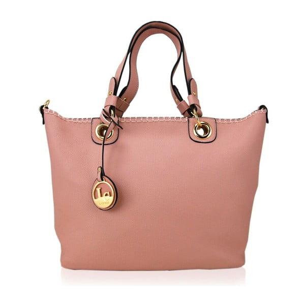 Skórzana torebka Ginny Light Pink