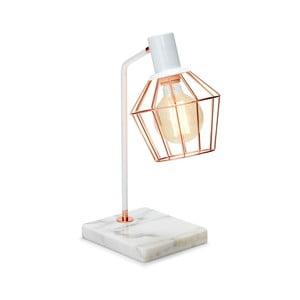 Biała lampa stołowa Salt&Pepper Marble