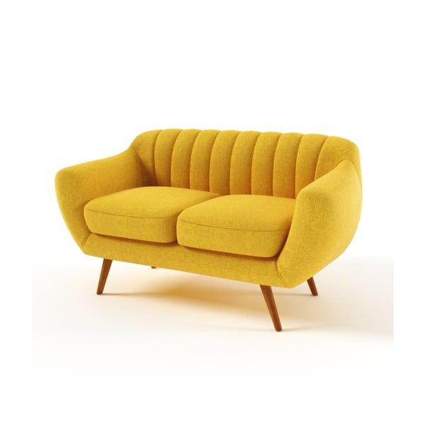 Żółta   sofa dwuosobowa Wintech Azzurre