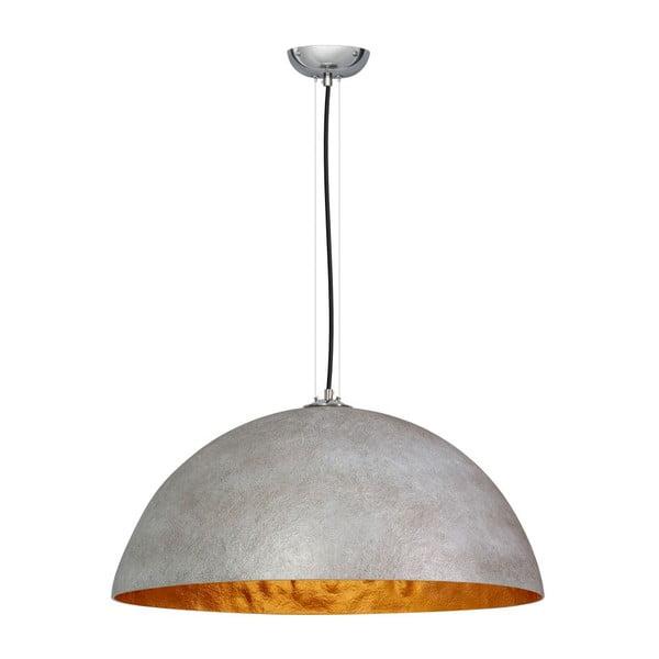 Szaro-złota lampa wisząca ETH Mezzo Tondo, ⌀ 70 cm