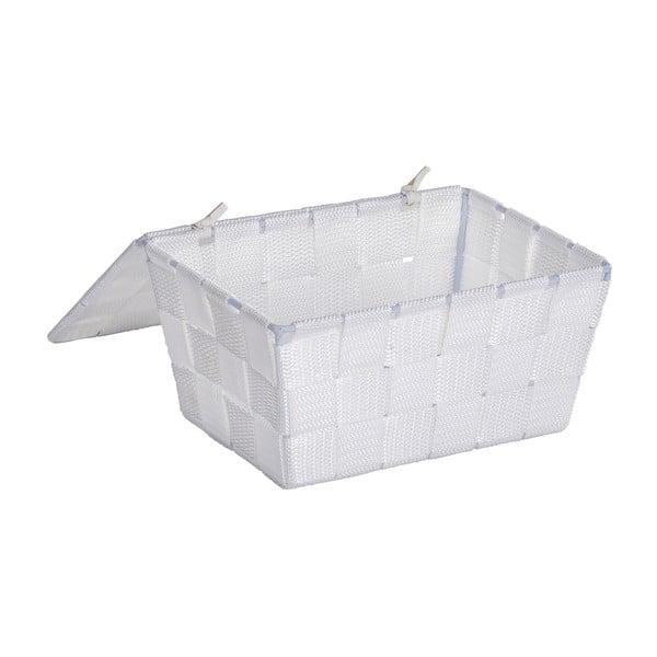 Biały koszyk zamykany Wenko Adria