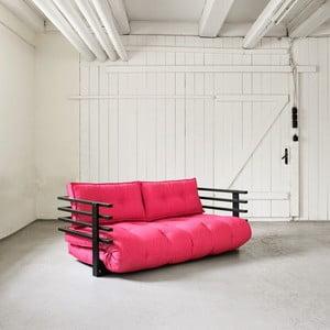 Sofa rozkładana dwuosobowa Karup Funk Black/Magenta