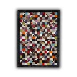 Dywan skórzany Black Border, 140x200 cm