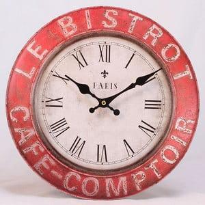 Drewniany zegar Le Bistro Paris, 34x34 cm