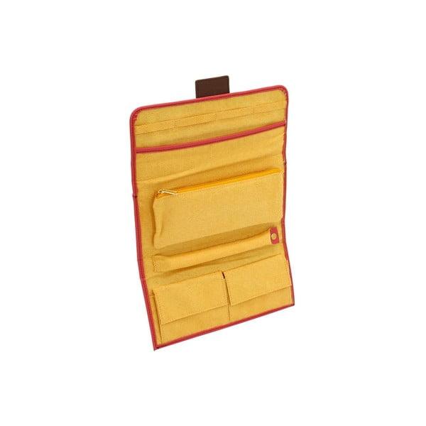 Czerwona zwijana szkatułka Friedrich Lederwaren Ascot