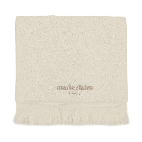 Kremowy ręcznik bawełniany z kolekcji Marie Calire Amy, 50x90 cm