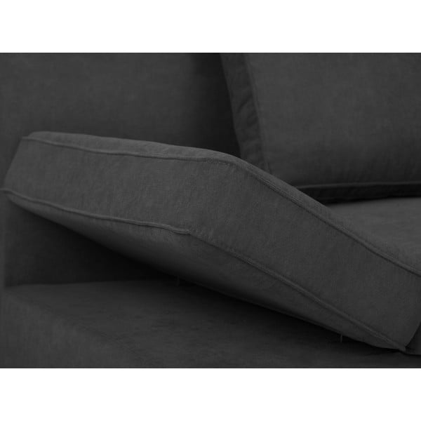 Ciemnoszara 2-osobowa sofa rozkładana Windsor & Co Sofas Iota