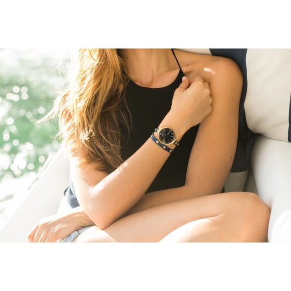 Zegarek damski z podwójnym paskiem Orchard Double Wrap Pewter