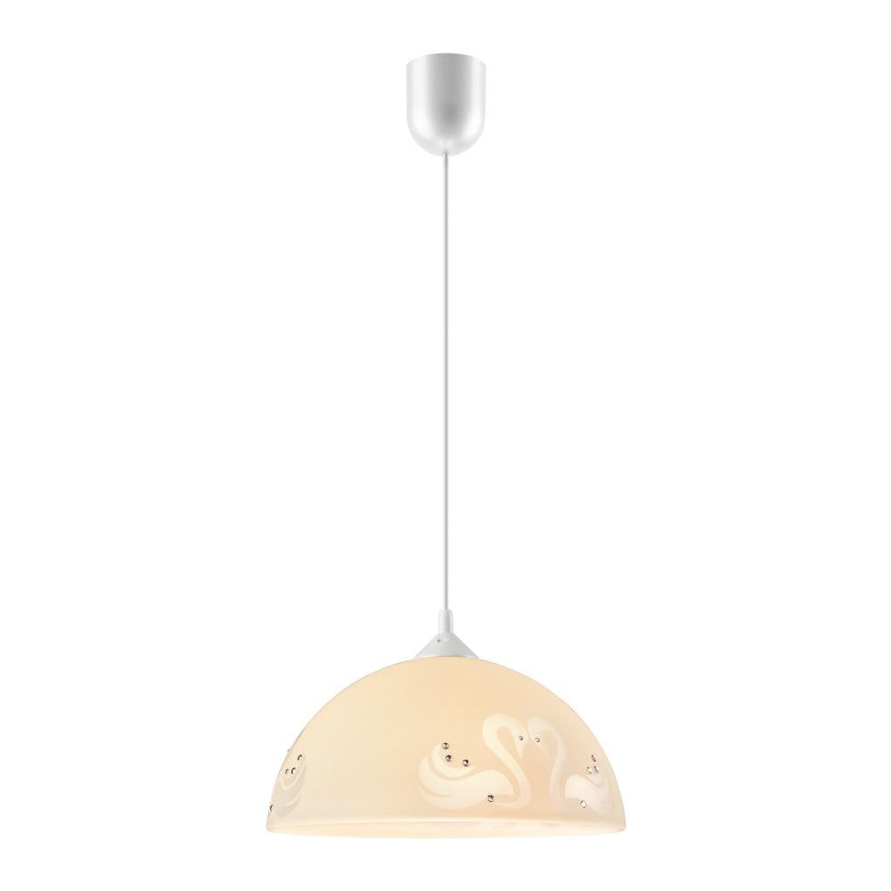 Beżowa lampa wisząca Lamkur Swan