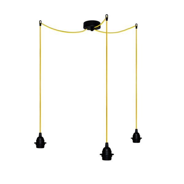 Trzy wiszące kable Uno+, żółty/czarny
