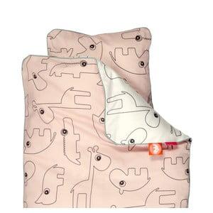 Różowa pościel dziecięca Done by Deer Contour, 70x80cm