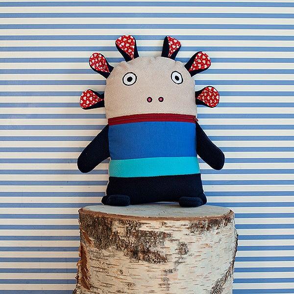 Piżamożerca, niebiesko-czerwony, mały