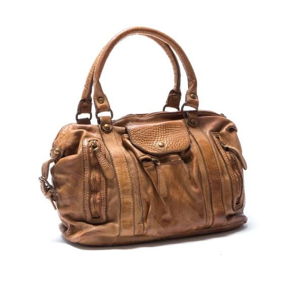 Skórzana torebka Mangotti 0001, koniak