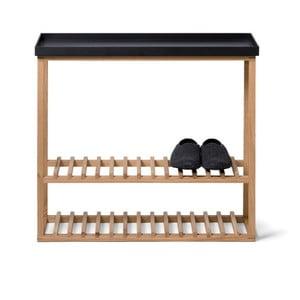 Szafka na buty z półką Hello Storage, czarny blat
