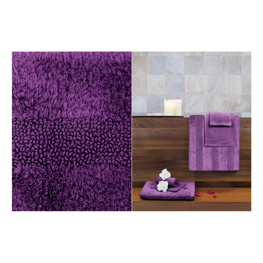 ciemnofioletowy dywanik azienkowy jalouse maison tapis de. Black Bedroom Furniture Sets. Home Design Ideas