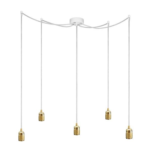 Lampa sufitowa pięcioczęściowa  BI Elementary, złota/biała/biała