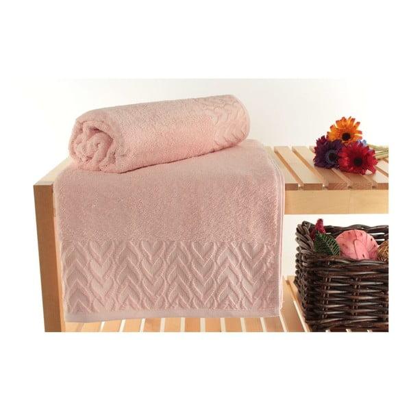 Zestaw 2 ręczników Kalp Pink, 90x150 cm