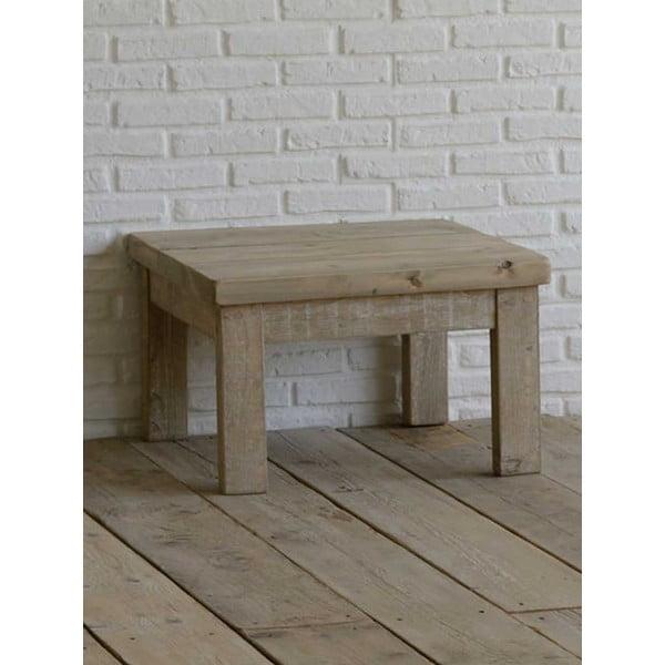Ławka z drewna pozyskanego z recyklingu Old Wood, 65x65 cm