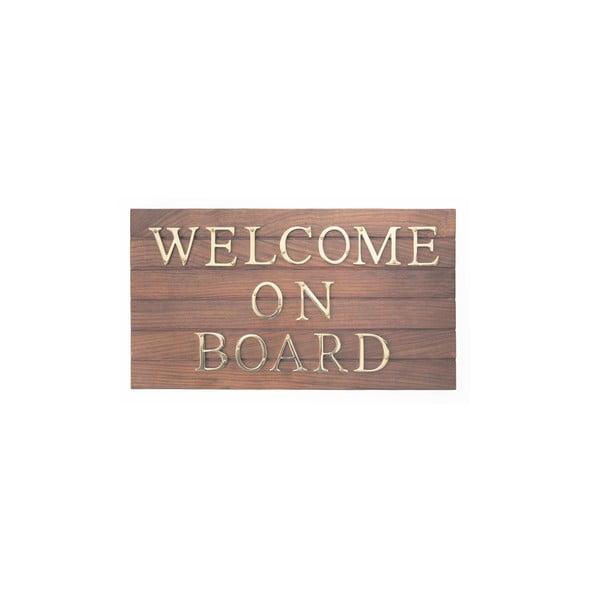 Tabliczka drewniana Welcome On Board