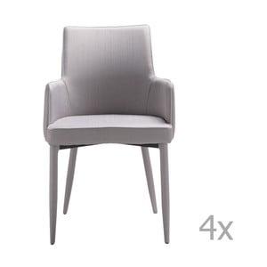 Zestaw 4 szarych krzeseł 13Casa Karl