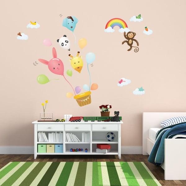 Naklejka Ambiance Ballons And Funny Monkey