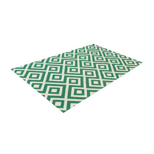 Dywan wełniany Luisa Green, 240x155 cm