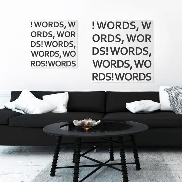 Magnetyczna tablica dESIGNoBJECT.it Words,50x50cm