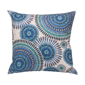 Poduszka Blue Rosette, 45x45 cm
