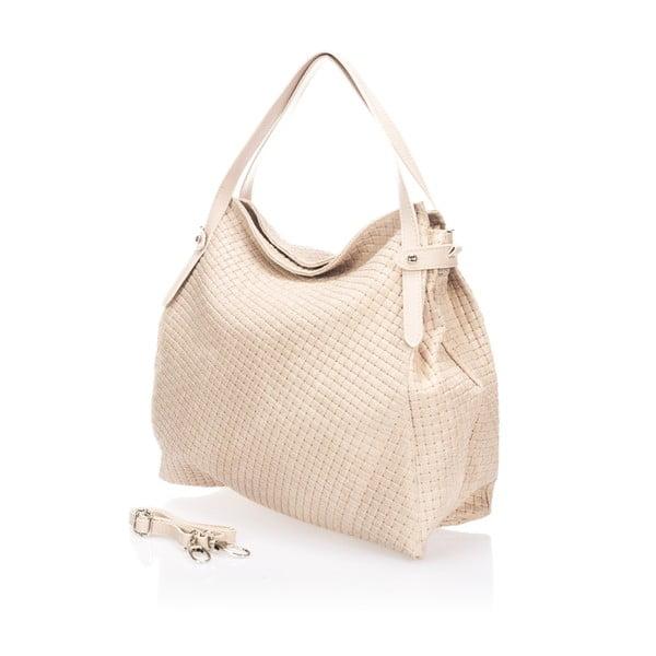 Beżowa torebka skórzana Markese Hela