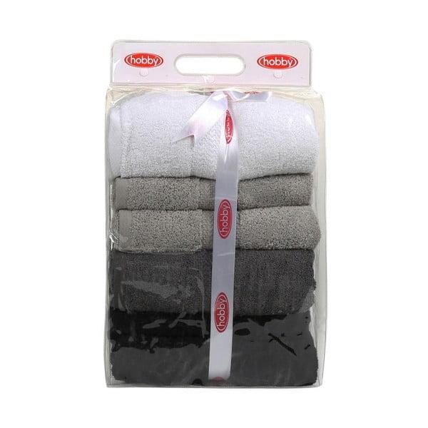 Zestaw 4 ręczników Rainbow Shadow, 70x140 cm