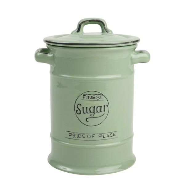 Zielony pojemnik ceramiczny na cukier T&G Woodware Pride Of Place, 1,25 l