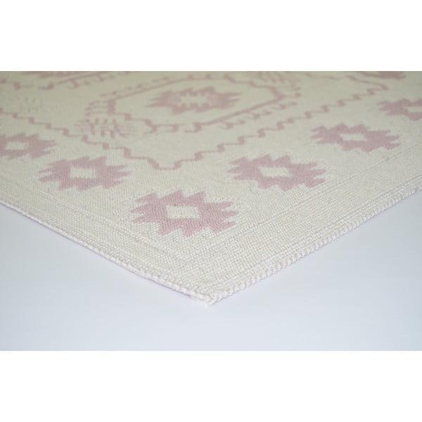 Pudrowy wytrzymały dywan Dahlia, 80x200 cm